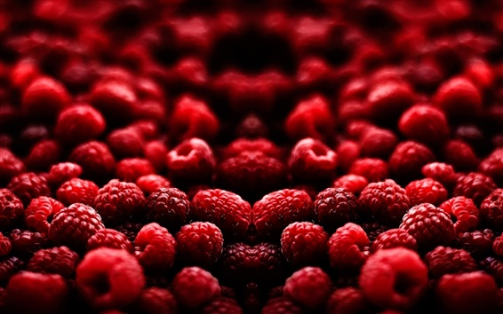 Wallpaper Delicious fruits, red raspberry