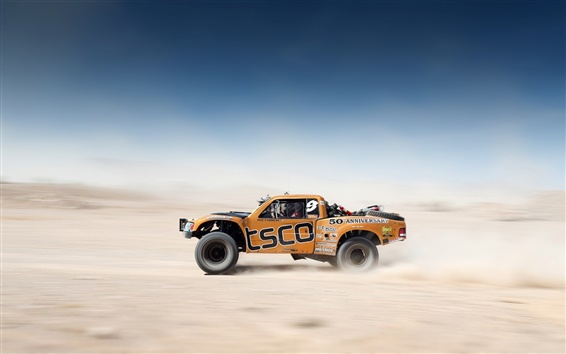 Wallpaper Desert Race, Car, Offroad, Blur background