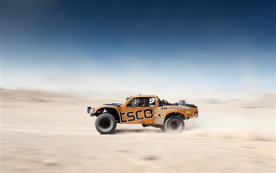 Fondos de pantalla Desert Race, Coche, campo a través, Desenfoque de fondo