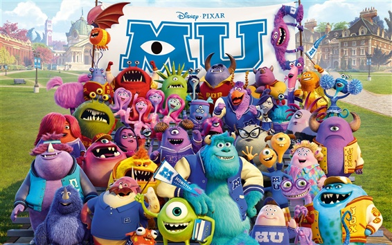 Wallpaper Disney movie, Monsters University