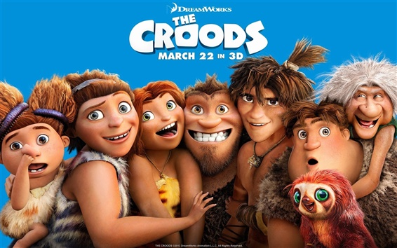 Wallpaper DreamWorks movie, The Croods