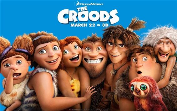 Fondos de pantalla DreamWorks película, Los Croods