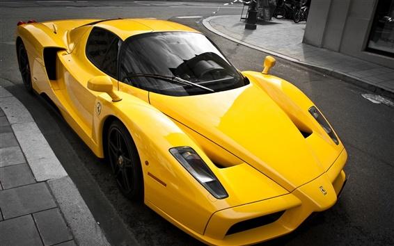 Wallpaper Ferrari Enzo luxury yellow supercar