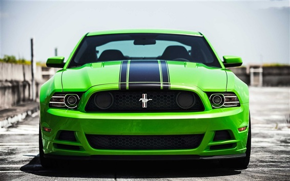 Wallpaper Green Ford mustang