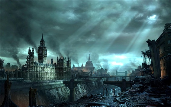 Wallpaper Hellgate: London, the war in London