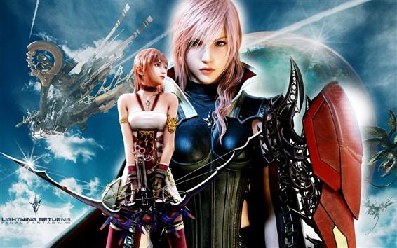 Fond d'écran Foudre Retours: Final Fantasy XIII