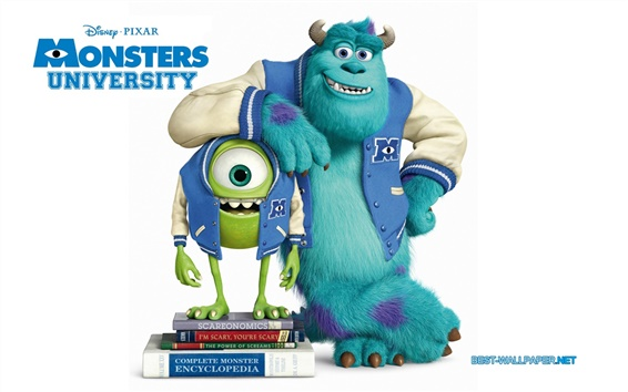 Hintergrundbilder Pixar Cartoon, Monsters Universität