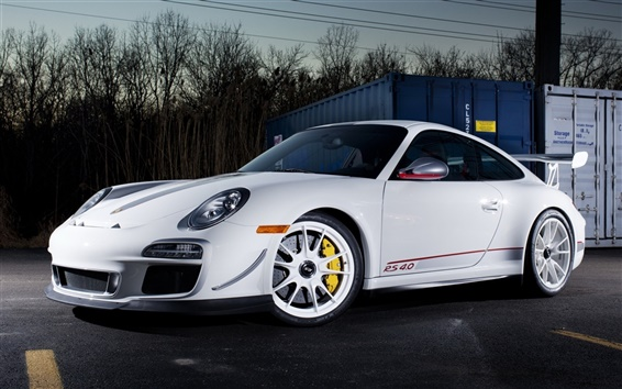 Wallpaper Porsche 911 GT3 RS 4.0 white color