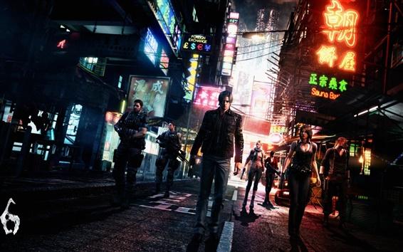 Wallpaper Resident Evil 6, heroes in the street