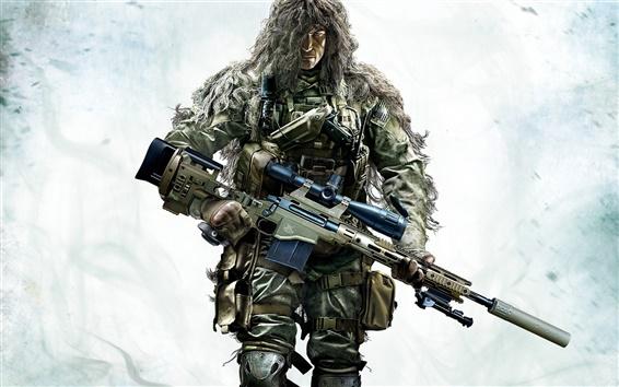 Fond d'écran Sniper: Ghost Warrior 2, soldat déguisé