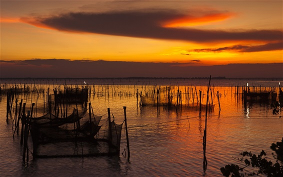 Fondos de pantalla Songkhla, Tailandia, Costa de la oscuridad