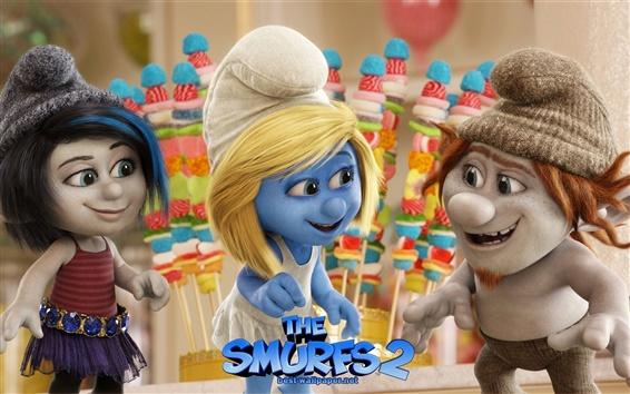 Wallpaper The Smurfs 2