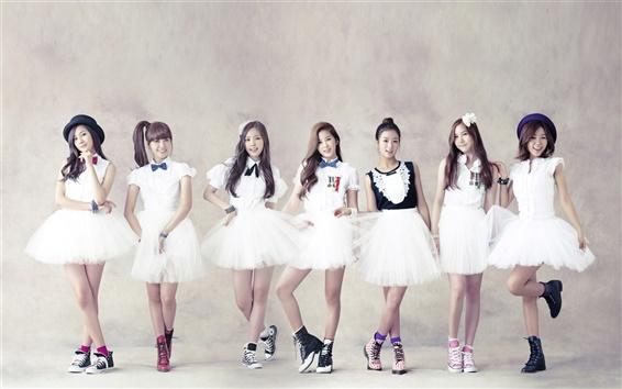 Wallpaper A Pink, Korean Kpop music girls 01