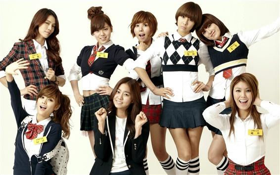 Fondos de pantalla Después de clases, Corea del Sur, muchachas de la música asiática 02