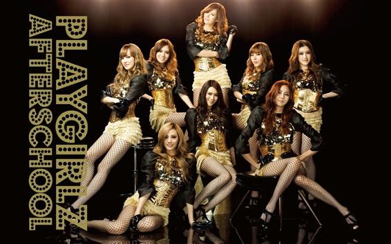 Fondos de pantalla Después de clases, Corea del Sur, muchachas de la música asiática 03