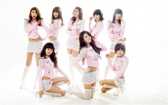 Fondos de pantalla Después de clases, Corea del Sur, muchachas de la música asiática