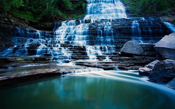 Обои Albion Falls, Гамильтон, Онтарио, водопады, озера