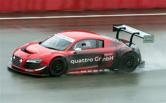 Wallpaper Audi R8 LMS ultra sports car in the race