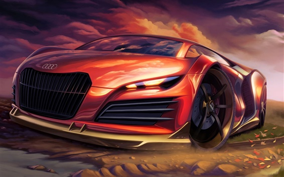 Обои Audi креативный дизайн суперкара