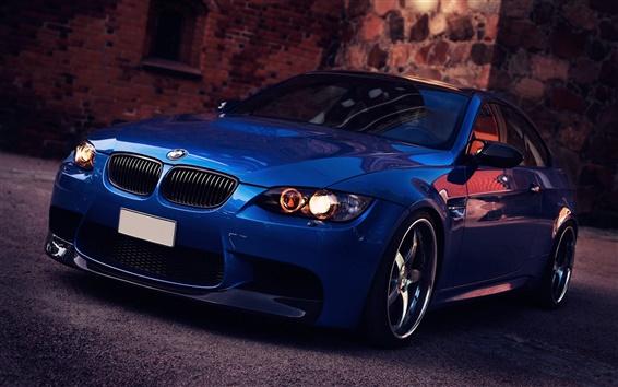 Wallpaper BMW M3 blue car