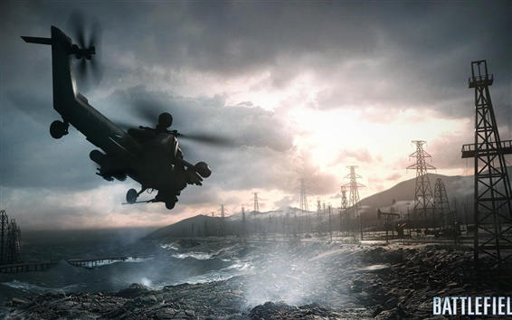 Wallpaper Battlefield 4 helicopter