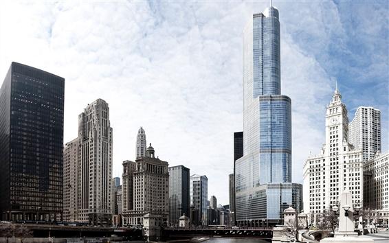 Fondos de pantalla Chicago, el centro de la ciudad, rascacielos