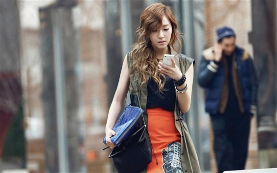 Fond d'écran Girls Generation, Jessica, l'utilisation du téléphone