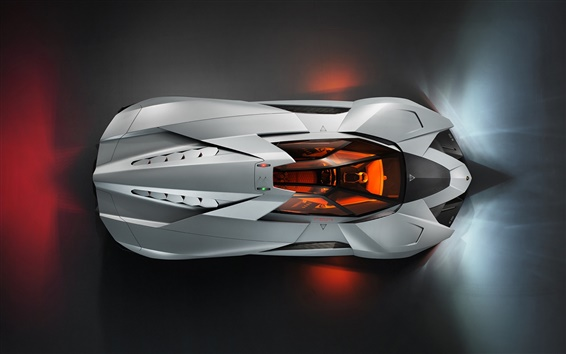 Wallpaper Lamborghini Egoista sport car top view