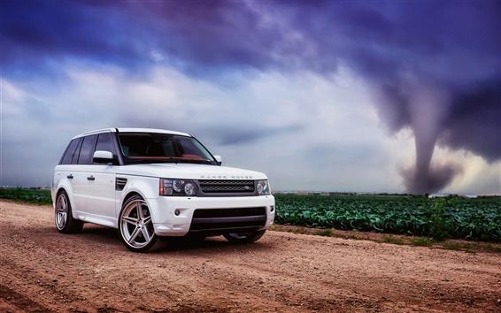 Wallpaper Land Rover, Range Rover, sport white SUV car