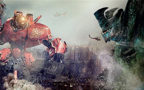 Wallpaper Pacific Rim, robots clash