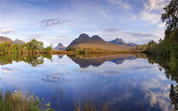 Обои Шотландии, природа пейзаж, озеро, горы