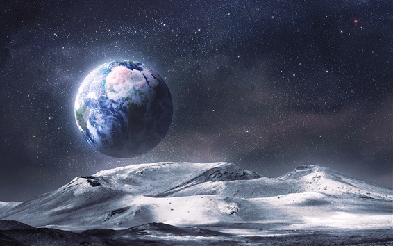 Обои Посмотреть Земли из космоса планету