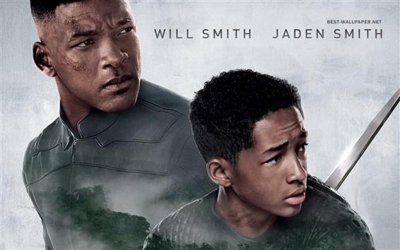 Fond d'écran Will Smith et Jaden Smith dans After Terre