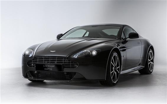 Wallpaper Aston Martin V8 Vantage S SP10 black