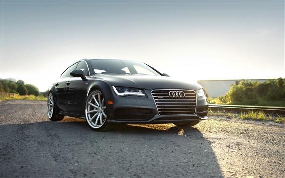 Обои Audi A7 черный автомобиль