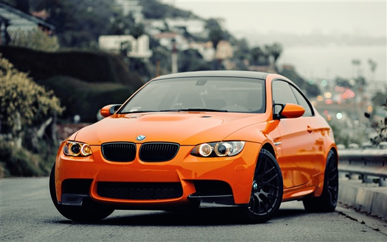 Wallpaper BMW M3 orange car