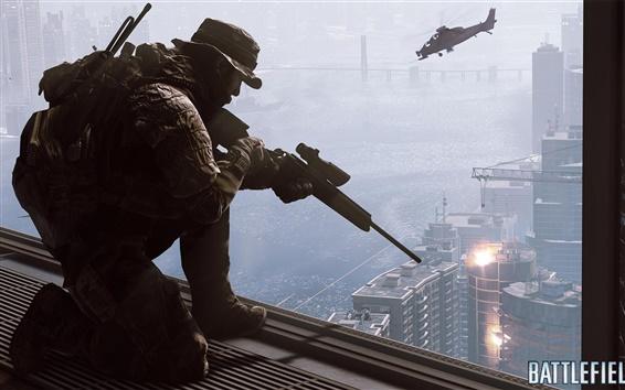 Wallpaper Battlefield 4, Sniper