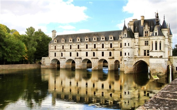 Wallpaper Chenonceau Castle in Paris of France
