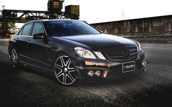 Fondos de pantalla Mercedes-Benz E-Class Negro auto
