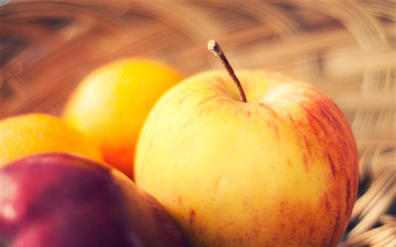 Papéis de Parede maçãs maduras