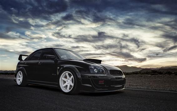Fondos de pantalla Subaru Impreza WRX STI coche negro