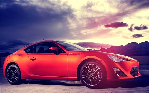 Обои Subaru спортивный автомобиль красного цвета