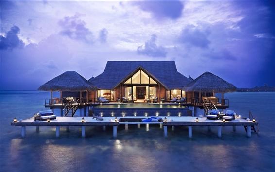Fondos de pantalla Villa en agua de mar