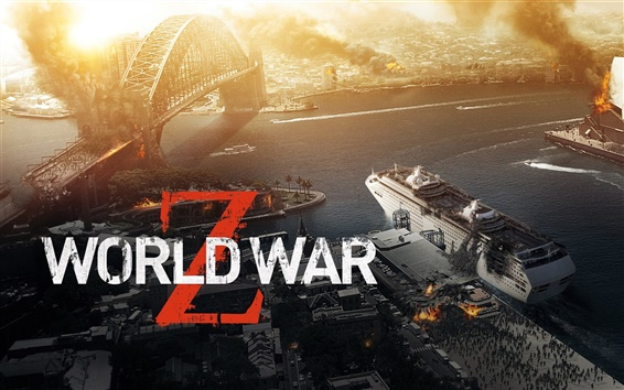 Wallpaper World War Z, Zombie Siege