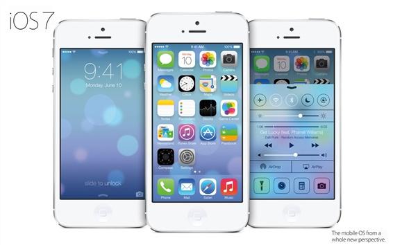 Wallpaper iOS 7 in iPhone 5