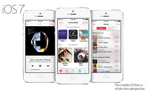Обои iPhone 5 Itunes Радио 7 в системе IOS