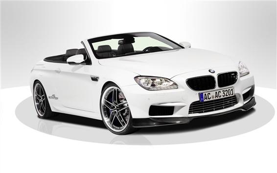 Wallpaper 2013 BMW M6 F13 white car