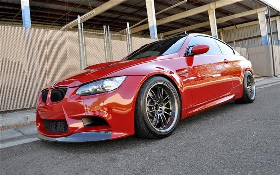 Papéis de Parede BMW M3 E92 carro vermelho
