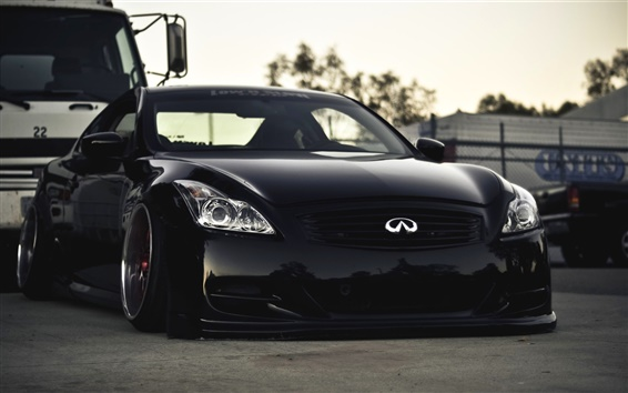 Wallpaper Black Infiniti G37 car