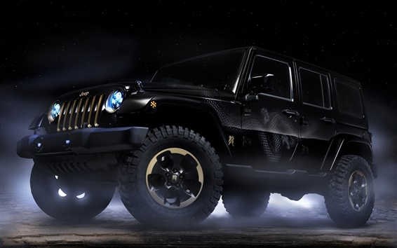 Обои Jeep Wrangler Дракон концепт-кар
